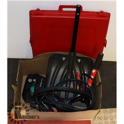 CRATE W/ BOOSTER CABLES, COLLAPSIBLE TELESCOPING