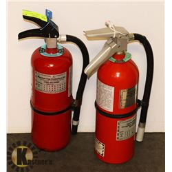 LOT OF 2 X 5LBS CHARGED FIRE EXTINGUISHERS