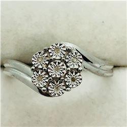 S/SIL 7 DIAMOND  RING