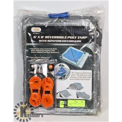 NEW POLY TARPS & 1 PACK TARP CLAMPS