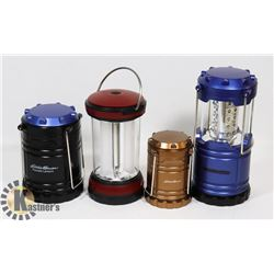 LOT OF 4 EDDIE BAUER LANTERNS
