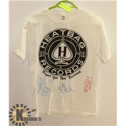 SIGNED HEATBAG RECORDS SHIRT