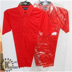 LOT OF 3 NEW RED ARROW GOLF SHIRTS