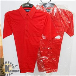 LOT OF 2 NEW RED ARROW GOLF SHIRTS