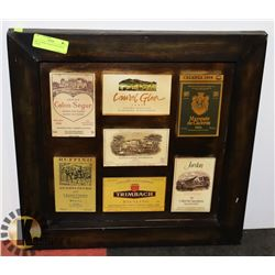 METAL WINE PLAQUE WITH WINE LOGOS