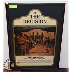 """THE DECISION"" FRAMED ALAMO COLLECTIBLE"