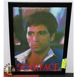 FRAMED SCARFACE TONY MONTANA PICTURE