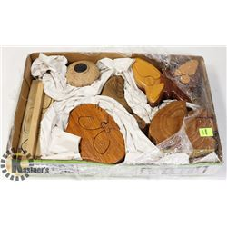LOT OF 7 WOOD PUZZLES BOXES