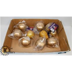 10 HUDSON BAY CO SEALED CHRISTMAS ORNAMENTS
