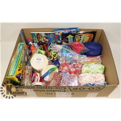 LARGE BOX FULL OF ARTS & CRAFTS ITEMS