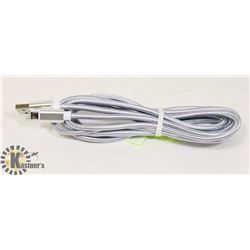 10FT ANDROID SILVER CORD.