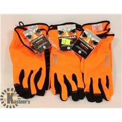 3 PAIRS OF TOUGH DUCK PRECISION FIT GLOVES M/M