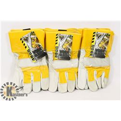 3 PAIRS OF WORK GLOVES