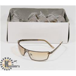 BOX OF AMBER DESIGNER SUNGLASSES