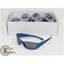 BOX OF SILVER BLUE DESIGNER SUNGLASSES