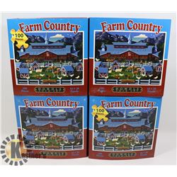 LOT OF 4 NEW 100 PC PUZZLES