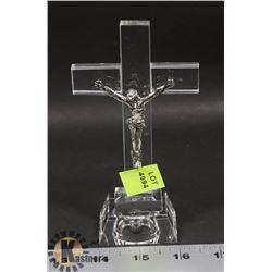 CRYSTAL JESUS ON THE CROSS DISPLAY