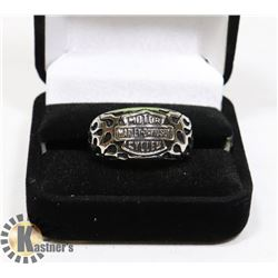 STAINLESS STEEL HARLEY DAVIDSON MOTORCYCLE RING