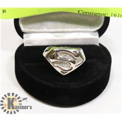 STAINLESS STEEL SZ 5 SUPERMAN RING