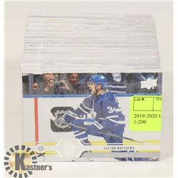 2019-2020 UPPERDECK SERIES 1 SET 1-200