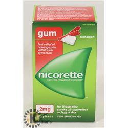 NICORETTE GUM 105 PIECES 2MG CINNAMON