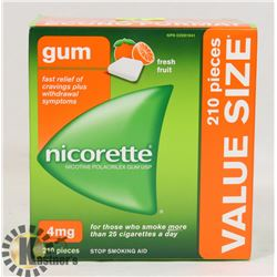 NICORETTE GUM 210 PIECES 4 MG ULTRA FRESH FRUIT