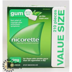 NICORETTE GUM 210 PIECES 4MG ULTRA FRESH MINT