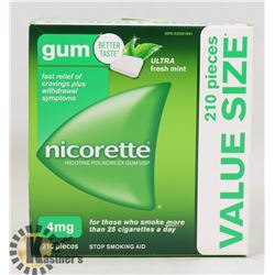 NICORETTE GUM 210 PIECES 2 MG ULTRA FRESH MINT