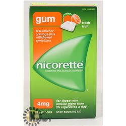 NICORETTE GUM 105 PIECES 4MG FRESH FRUIT
