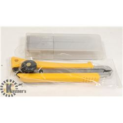 NEW BOX CUTTER/OLFA KNIFE WITH 50 PK 18 MM BLADES