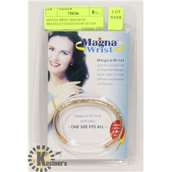 MAGNA WRIST MAGNETIC BRACELET-GOLD COLOR SILVER