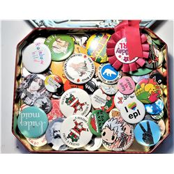 7)  CHRISTMAS TIN CONTAINING DOZENS OF