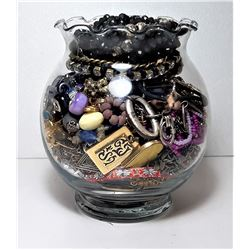 26)  JAR CONTAINING PANDORA STYLE BEADS,