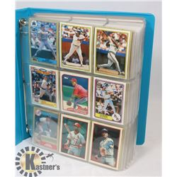 LARGE BINDER OF MIXED MLB COLLECTOR CARDS