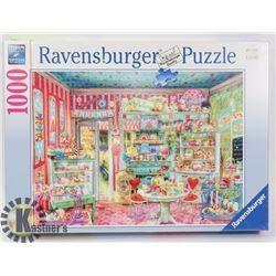 RAVENSBURGER 1000PC THE CANDY SHOP PUZZLE.