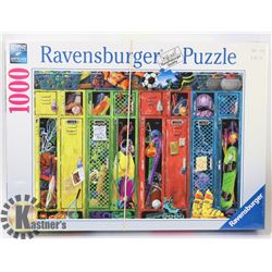 RAVENSBURGER 1000PC THE LOCKER ROOM PUZZLE.