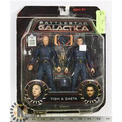 BATTLESTAR GALATICA TIGH & GAETA ACTION FIGURES.