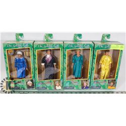 SET OF FOUR GOLDEN GIRLS ACTION FIGURES: BLANCHE,