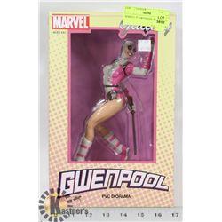 "MARVEL 9"" GWENPOOL PVC FIGURE."