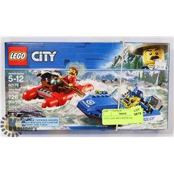 CITY LEGO WILD RIVER ESCAPE 126PC SET 60176.