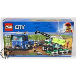 CITY LEGO HARVESTER TRANSPORT 358PC SET 60223.