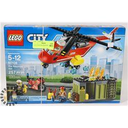 CITY LEGO FIRE RESPONSE UNIT 257PC SET 60108.