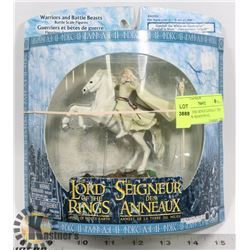 LORD OF THE RINGS GANDALF THE WHITE ON SHADOWFAX,
