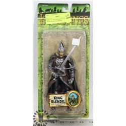 LORD OF THE RINGS KING ELENDIL WITH SWORD SLASHING
