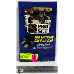 1990-91 PRO SET SEALED BOX OF HOCKEY CARDS