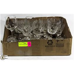 LOT OF 19 VINTAGE WINE GLASSES