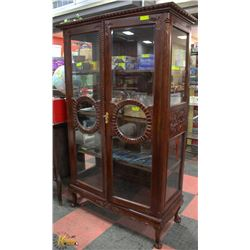 "SOLID WOOD ART DECCO CABINET 46"" X 75"""