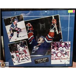 EDMONTON OILERS 5 STANLEY CUP FRAMED PHOTO DISPLAY