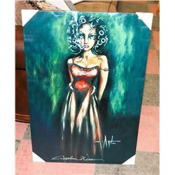 ANGELINA WRONA SMOKING LADY ART ON CANVAS