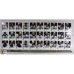 1986-87 UNCUT EDMONTON OILERS RED ROOSTER 30 CARD